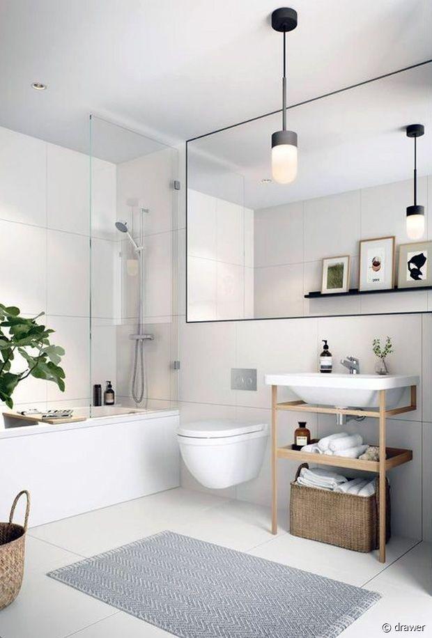 Avec un miroir pareille, la salle de bain vient de gagner 1m²