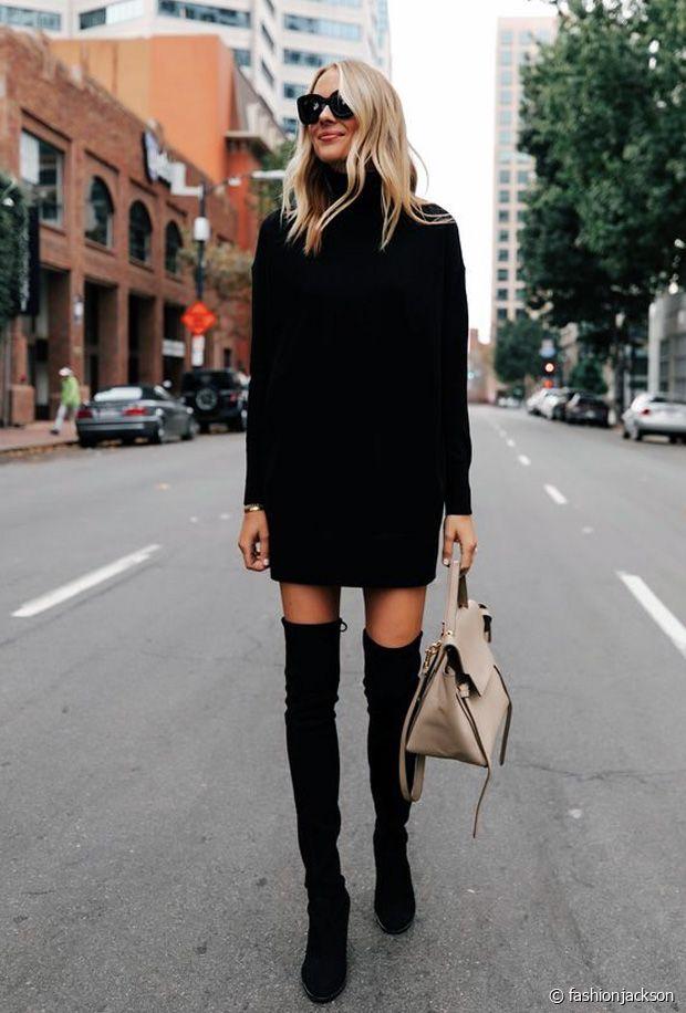 Avec quoi porter une robe pull en automne-hiver ?