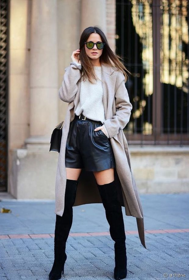 Idées de looks pour porter un short en automne-hiver