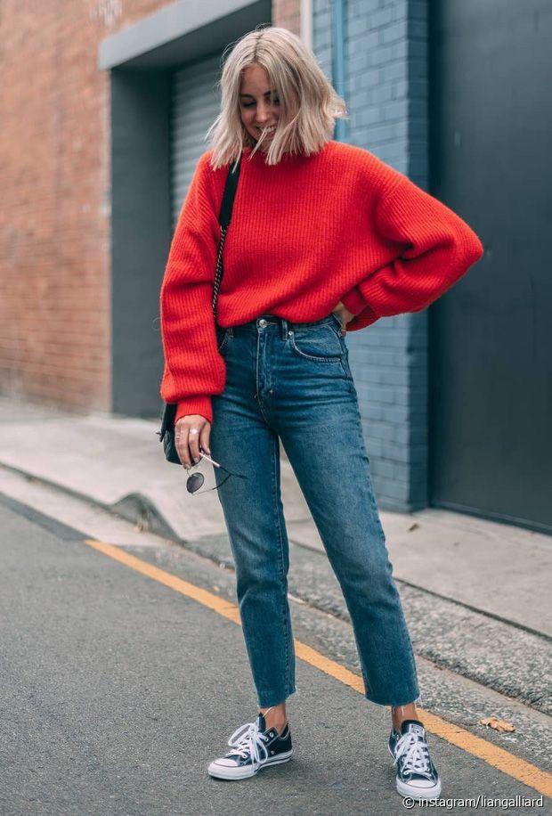 Comment porter un pull rouge (femmes) en hiver ?