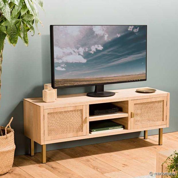 Le meuble TV bohème à souhait avec son joli cannage