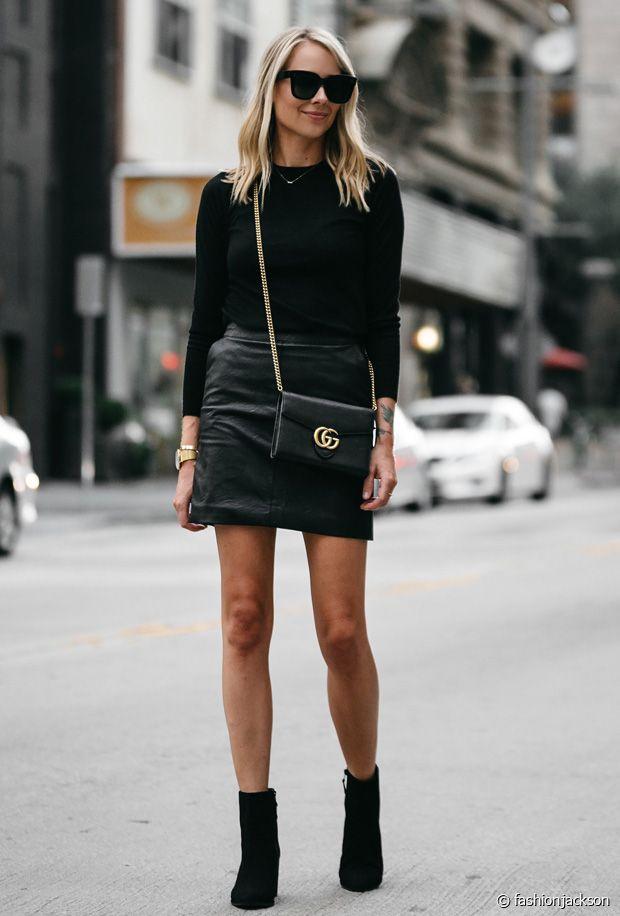 Comment porter une jupe en cuir ?