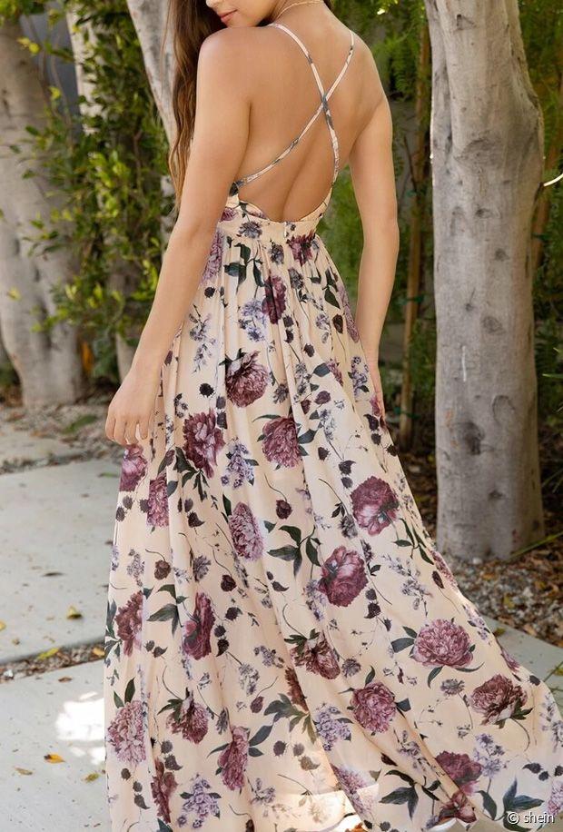 Sélection de robes longues fleuries pour l'été 2021