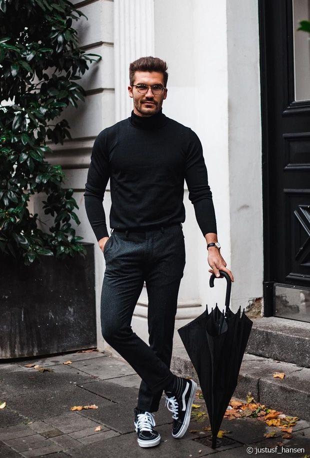 Hommes : comment porter un col roulé avec classe en hiver ?
