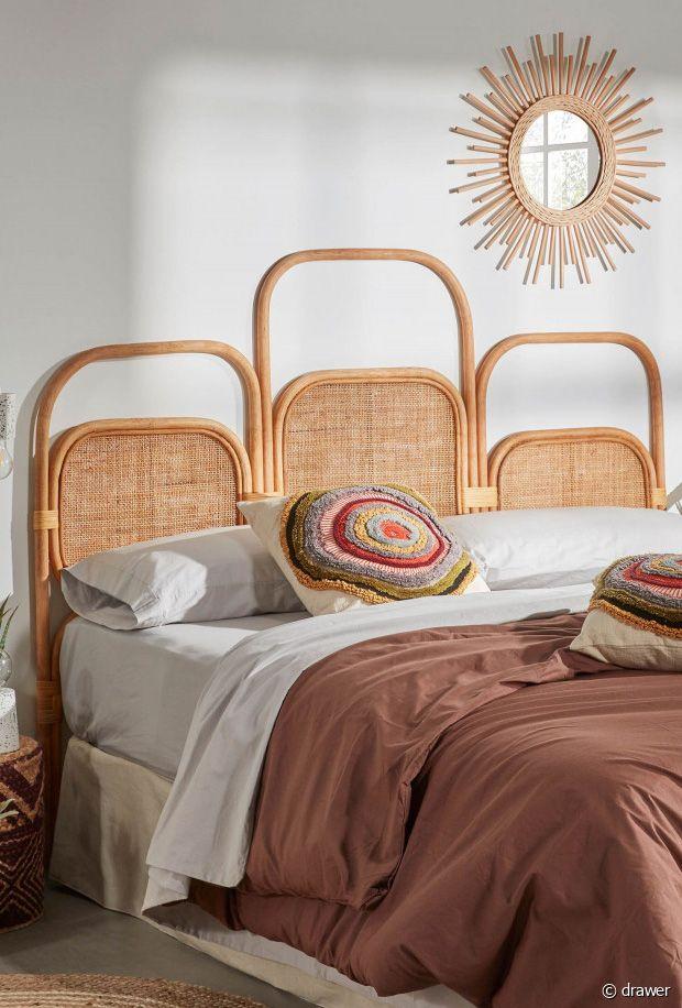 Notre sélection de têtes de lit en rotin originales pour une chambre bohème hippie chic