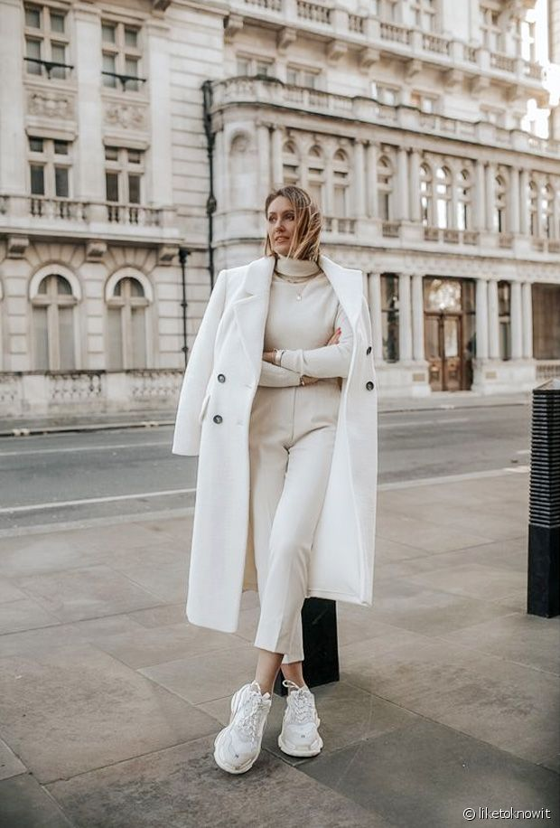 Comment porter un total look blanc en hiver ?