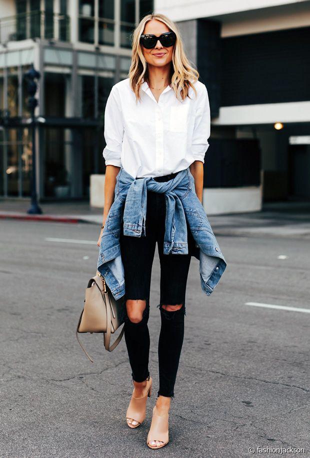 Comment porter la chemise blanche en automne ?