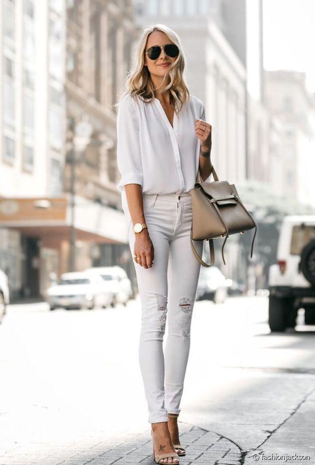 Comment porter un total look blanc ce printemps-été 2020 ?