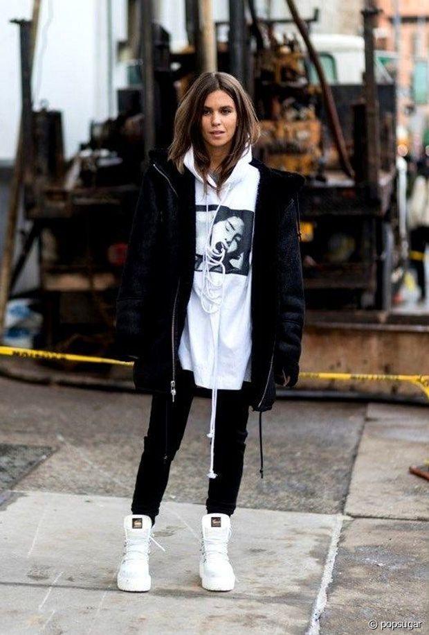 Pour un look streetwear, vous pouvez toujours compter sur le sweat large