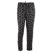 Pantalon large imprimé palmiers - version originale - noir