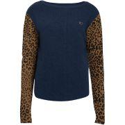 Leon & harper sweat swanny leopard bleu
