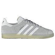 Baskets adidas gazelle gris blanc femme