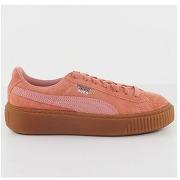 Baskets cuir - mixte - rose - puma