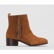 Soldes ! boots à franges - feminin - marron - castaluna