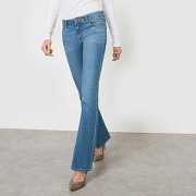 Soldes ! jean bootcut taille normale longueur 34 - feminin - bleu - la redoute collections
