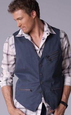 Gilet en jeans sans manche pour homme