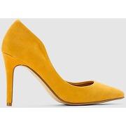 Soldes ! escarpins cuir à talon haut - feminin - jaune - r studio