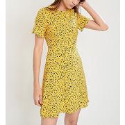 Robe en soie print motifs fantaisie jaune michael michael kors femme