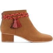 Boots détail tresse camel