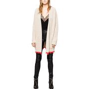 Cardigan en laine rita beige zadig & voltaire femme