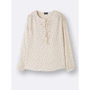 Soldes ! blouse imprimée femme - feminin - blanc - cyrillus