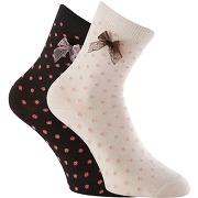 795fe37bfd18f épuisé Lot de 2 paires de chaussettes à pois, tige basse femme - marque  anonyme