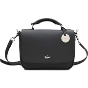 Besaces femme besace small satchel daily classic lacoste noir