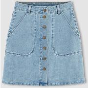 Jupe en jean courte, trapèze, skirt fem wov bleu - vila