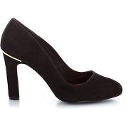 Escarpins cuir nubuck, détail coloris or noir - elle