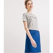 Jupe droite femme bleu - promod