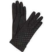 Gants en cuir chris - noir - femme - galeries lafayette - solde