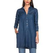Robe-chemise en denim foncé - bleu - femme - salsa