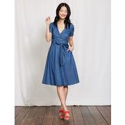 Robe portefeuille lara bleu femme boden