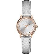 Guess montre cristal rose gold & grise femme w0648l11