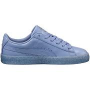 Baskets patent iced glitter jr - feminin - bleu - puma
