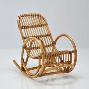 Soldes ! fauteuil enfant rocking chair en rotin, malu - beige - la redoute interieurs