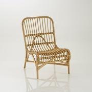 Chaise ou fauteuil d'appoint canne de rotin, malu - gris - la redoute interieurs