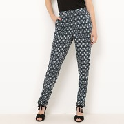 Soldes ! pantalon fluide imprimé - feminin - bleu - r edition