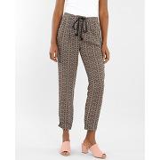 ⏳ pantalon fluide imprimé femme -50% - couleur rose - taille m - pimkie - soldes ete 2017
