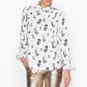 Soldes ! chemise imprimée avec volants - feminin - blanc - sister jane