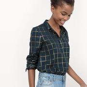 Soldes ! chemise à carreaux - feminin - bleu - la redoute collections