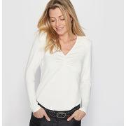 Soldes ! t-shirt, maille souple - feminin - beige - anne weyburn