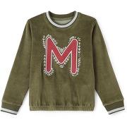 Soldes ! sweat velours motif m 3-12 ans - feminin - vert - la redoute collections