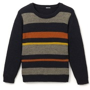 Soldes ! pull col rond rayé 3-12 ans - masculin - vert - la redoute collections