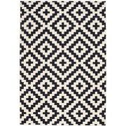 Tapis140x200cm noir et blanc