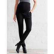 Pantalon de ville grossesse entrejambe 82 noir multicolore