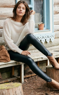 Pantalon en cuir La Redoute
