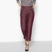 Pantalon large à pont prune