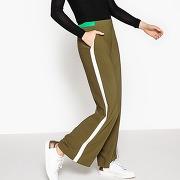 Pantalon large kaki-vert