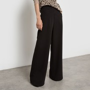 Pantalon large noir-noir